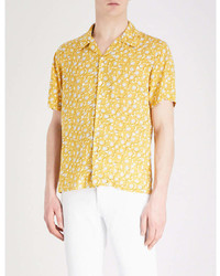 Sandro Floral Pattern Regular Fit Woven Shirt