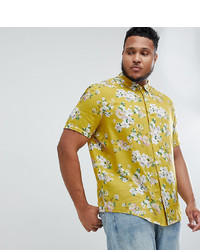 ea65df9738a3f ... Short Sleeve Woven Shirt Out of stock · ASOS DESIGN Plus Regular Fit Floral  Shirt In Mustard