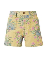 Madewell Emmett Floral Print Cotton Blend Twill Shorts