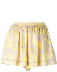 Missoni Floral Print Pleated Short
