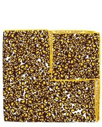 Yellow Floral Silk Pocket Square