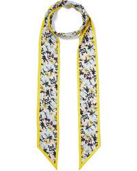 Chloé Floral Printed Silk Twill Scarf