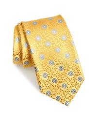 Canali Floral Medallion Silk Tie