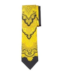 Yellow Floral Silk Tie
