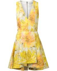 Alice + Olivia Aliceolivia Floral Jacquard Flared Dress