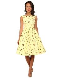 Stop Staring Cherry Lemon Swing Dress