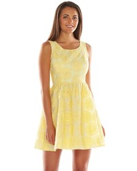 Lc Lauren Conrad Floral Lace Fit Flare Dress