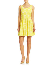 Taylor Pleated Fit And Flare Dress
