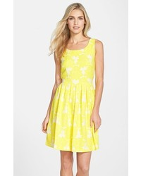 Taylor Dresses Jacquard Fit Flare Dress