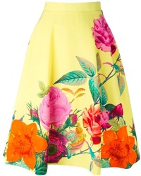 P.A.R.O.S.H. Caty Floral Print Skirt