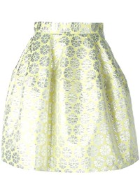 P.A.R.O.S.H. Floral Jacquard Skirt