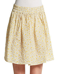 Red valentino floral jacquard skirt medium 228133
