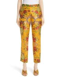 Etro Floral Jacquard Straight Leg Pants