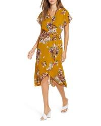 Leith Kimono Sleeve Floral Dress