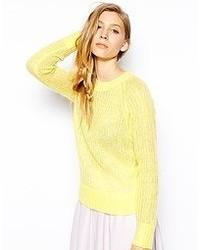 Le Mont St Michel Wool Mix Sweater Lemon