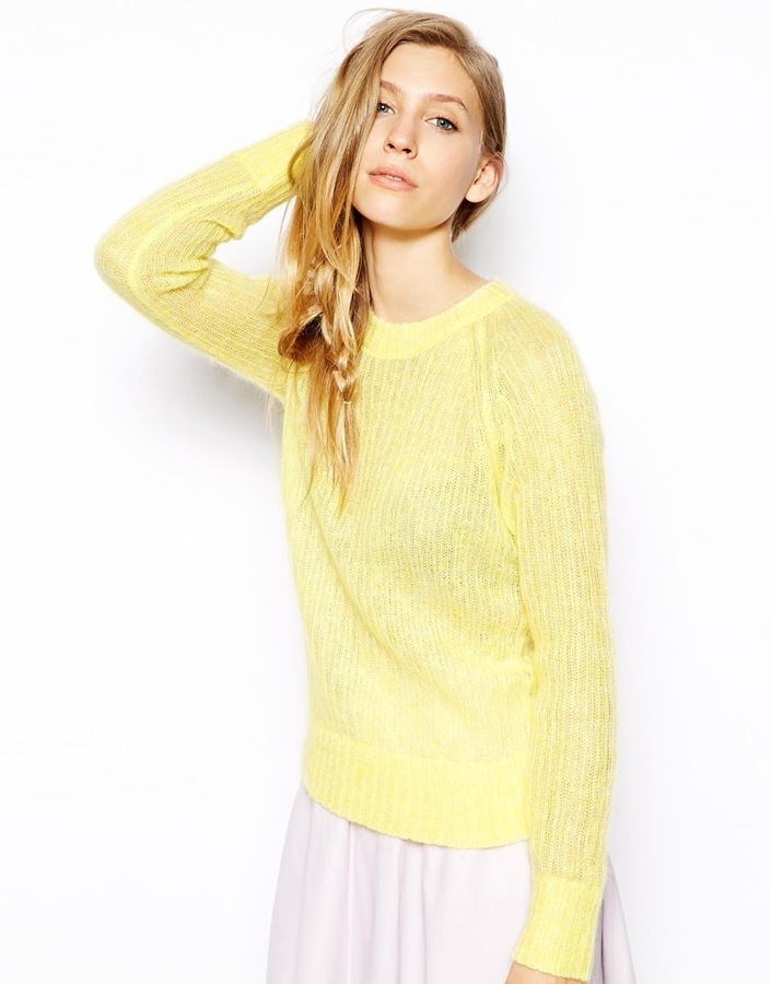 Le Mont St Michel Wool Mix Sweater Lemon | Where to buy & how to wear
