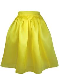 Plakinger Yellow Silk Organza Full Skirt