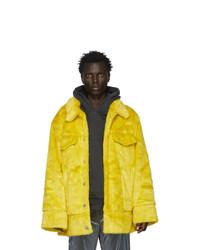 Landlord Yellow Faux Fur Jacket