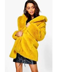 Boohoo Boutique Brooke Faux Fur Coat