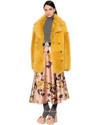 Rochas Shearling Fur Coat