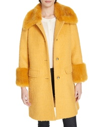 kate spade new york Faux Fluffy Coat