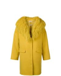 P.A.R.O.S.H. Fur Collar Coat