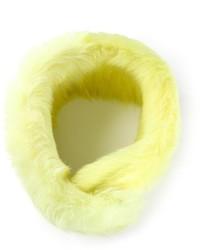 Yellow Fur Scarf