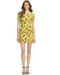 Yellow Geometric Bodycon Dress