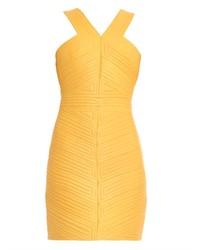 Striped quilt leather dress medium 148923