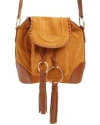 See by Chloe Small Polly Leather Bucket Bag Yellow