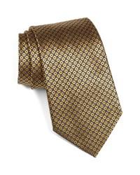 Ermenegildo Zegna Microgrid Silk Tie