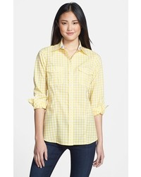 Yellow Gingham Dress Shirt