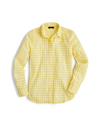 J.Crew Crinkle Gingham Boy Shirt