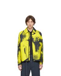 Issey Miyake Men Yellow Whirlwind Zip Up Jacket