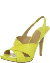 Yellow heeled sandals original 1638051