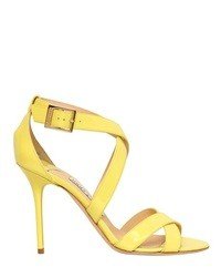 Jimmy choo 100mm lottie patent leather sandals medium 18385
