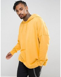 Asos Extreme Oversized Hoodie In Yellow