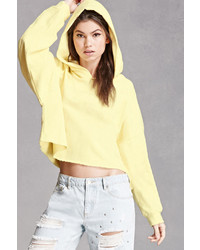 Forever 21 French Terry Cropped Hoodie