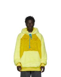 Landlord Yellow Faux Fur Hoodie