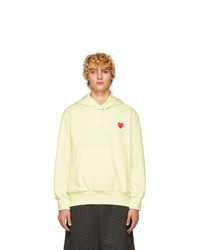 Comme Des Garcons Play Yellow Heart Patch Hoodie