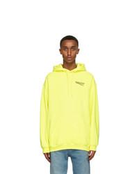 Balenciaga Yellow Medium Fit Political Campaign Hoodie