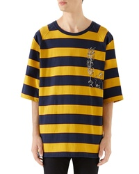 Gucci Stripe Crewneck T Shirt