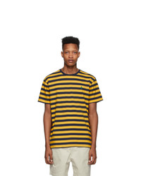 Polo Ralph Lauren Yellow And Navy Striped Classic Fit T Shirt