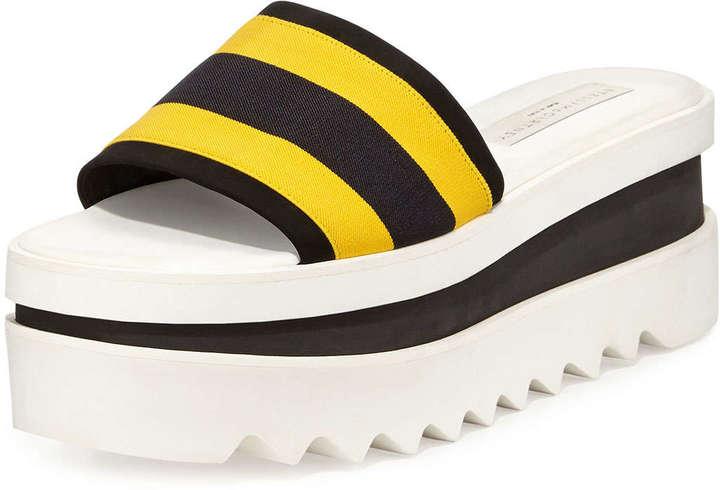 dffe9fda2bfa ... Sandals Stella McCartney Triple Platform Banded Slide Yellowblack ...