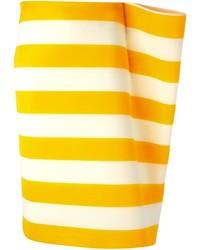 Jacquemus gathered detail striped skirt medium 195404