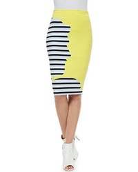 Stripedsolid knit combo skirt medium 195405