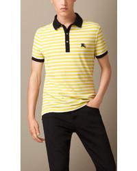 Yellow Horizontal Striped Polo