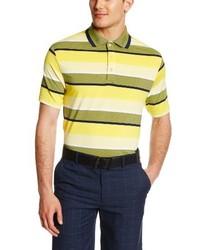 Hogan Ben Golf Performance End On Stripe Collar Tipping Short Sleeve Polo Shirt