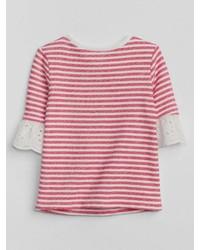Gap Eyelet Stripe T Shirt