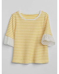 Gap Eyelet Stripe T Shirt
